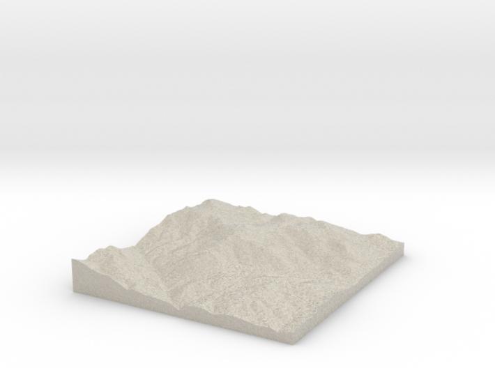 Model of Mount Tom 3d printed