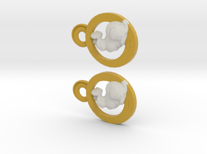 bunny earings 3d printed