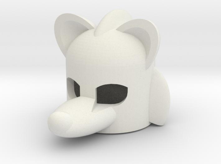 Rodentlike Helmet for Building Toy Figurine 3d printed
