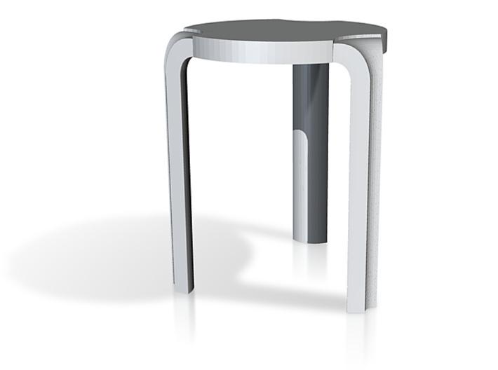 Round Aalto Stool 3d printed