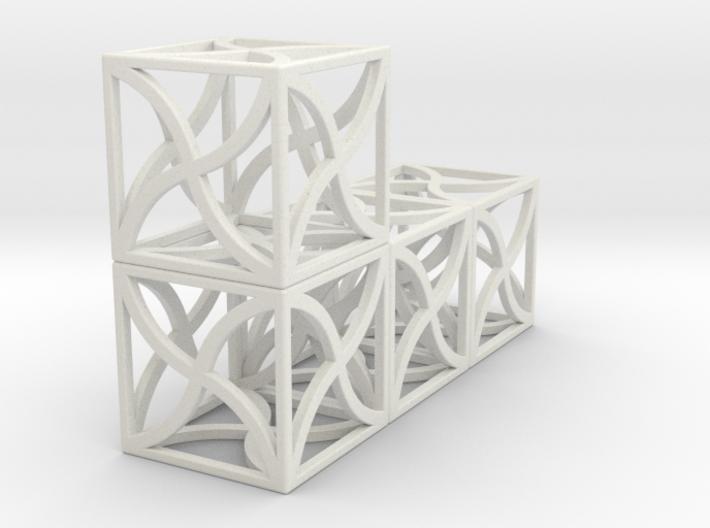 Twirl cubed puzzle single part #4 3d printed