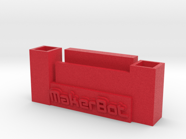makerbot iphone stand and pen holder 3d printed