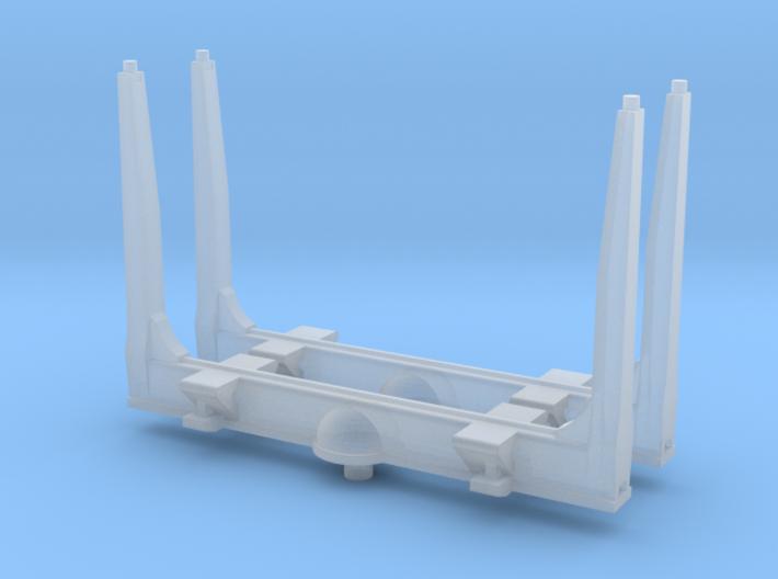 1/87th HO scale log bunk set of 2, gun barrel type 3d printed