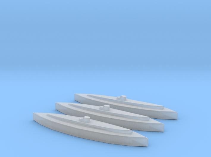 U-459 (Type XIV Milch Kuh) (1/2400) x3 3d printed