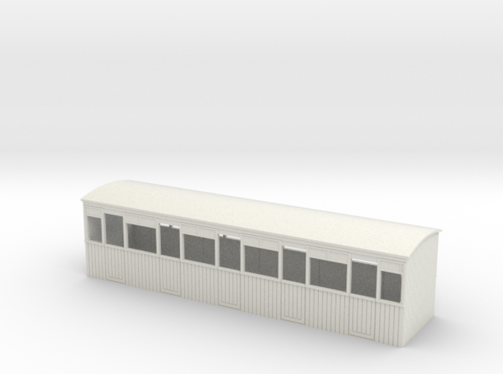 009 colonial 3rd semi-open coach 3d printed