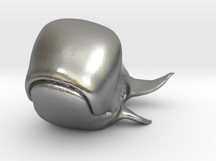 Happy Whale small 60mm long 3d printed