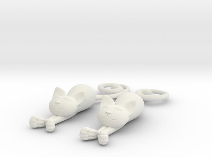 Kittens - earrings 3d printed