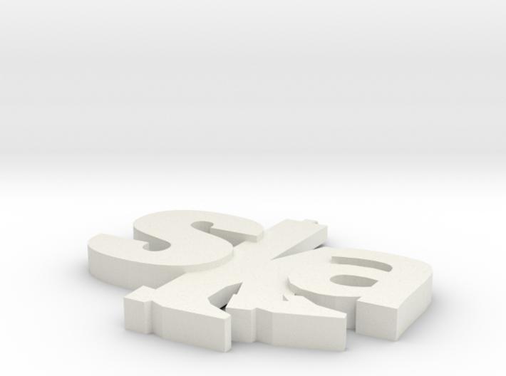ska pendant design 1 3d printed