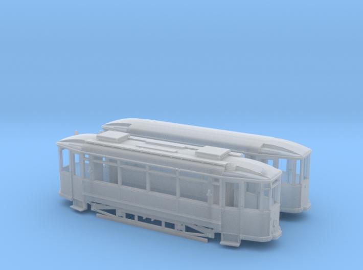 Tram Waggonfabrik Lindner Spur H0m (1:87) 3d printed