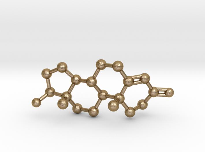 Testosterone Molecule Necklace BIG 3d printed