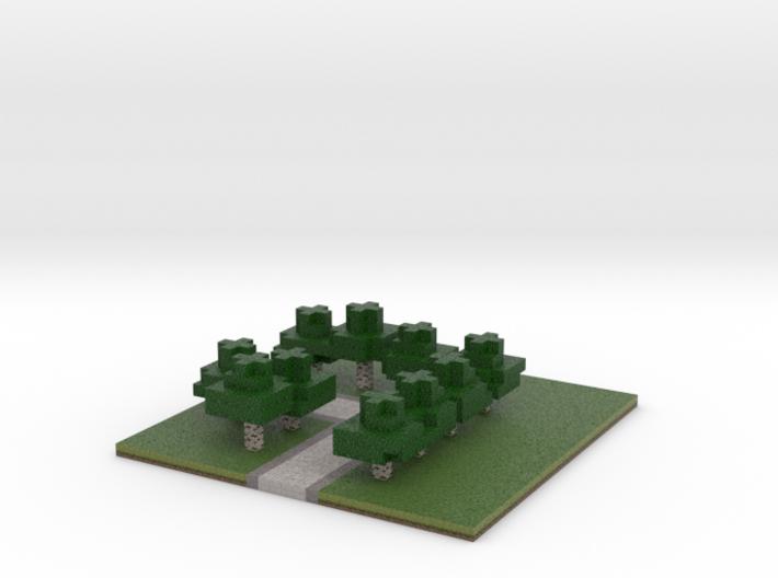 60x60 L path (white trees) (2mm series) 3d printed