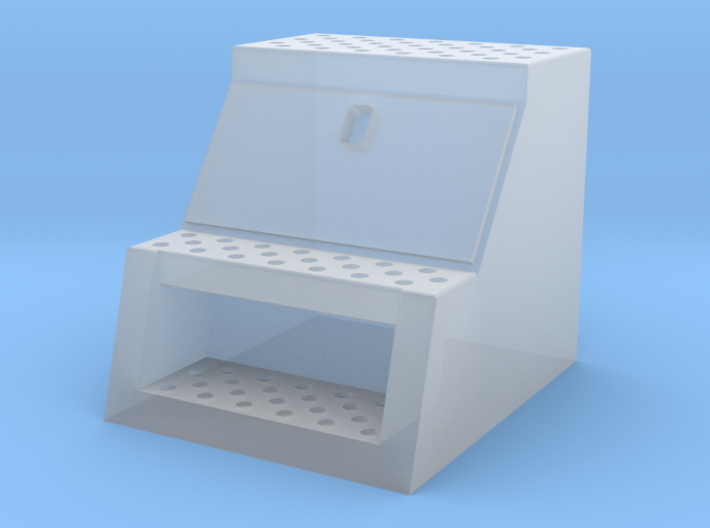 "1/87th HO scale 24"" wide 'Saddle box' tool box, fr 3d printed"