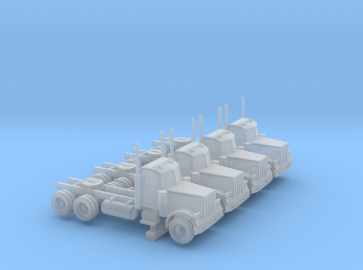 Peterbilt 379 Daycab Set - 1:144 scale 3d printed