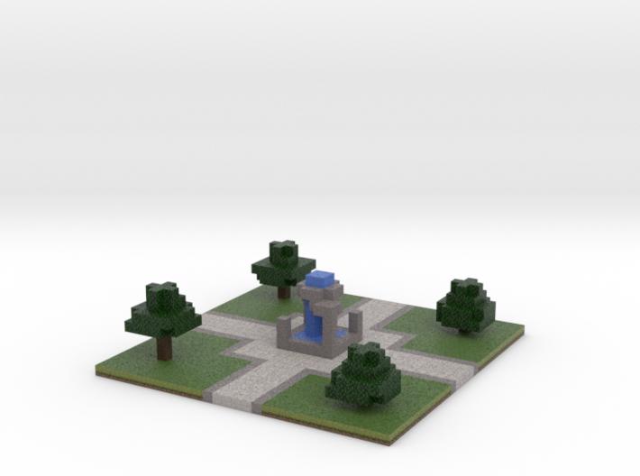 60x60 Fountain (2mm series) 3d printed
