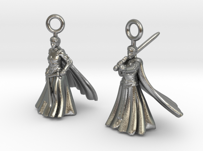 Nell earrings 3d printed