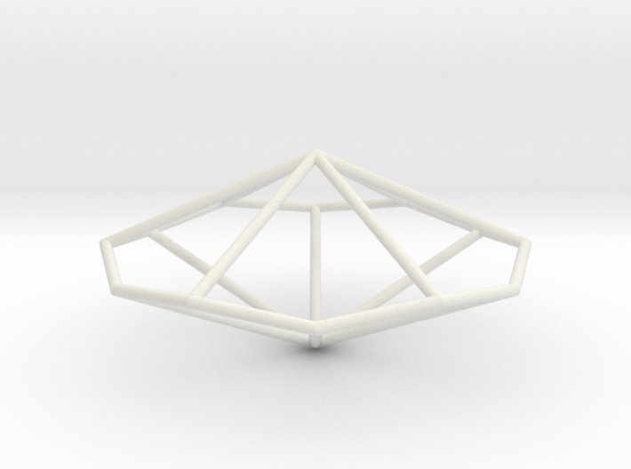 HexagonalTrapezohedron 70mm 3d printed