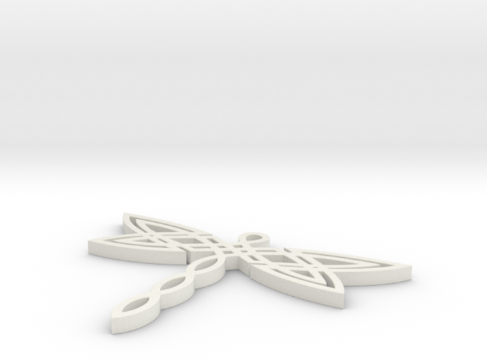 Celtic Dragonfly Pendant 3d printed