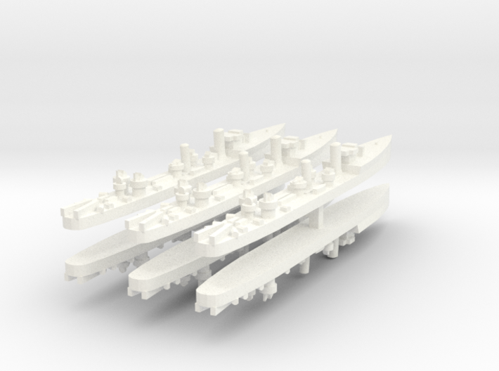 Admiralty S Destroyer (SRE) 1:1800 x6 3d printed