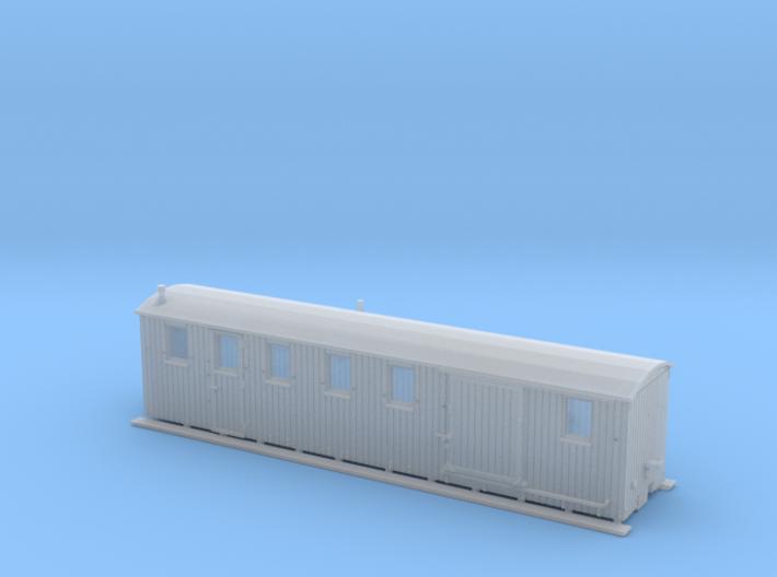 Komb. Personen- und Gepäckwagen der MPSB (1:120) 3d printed