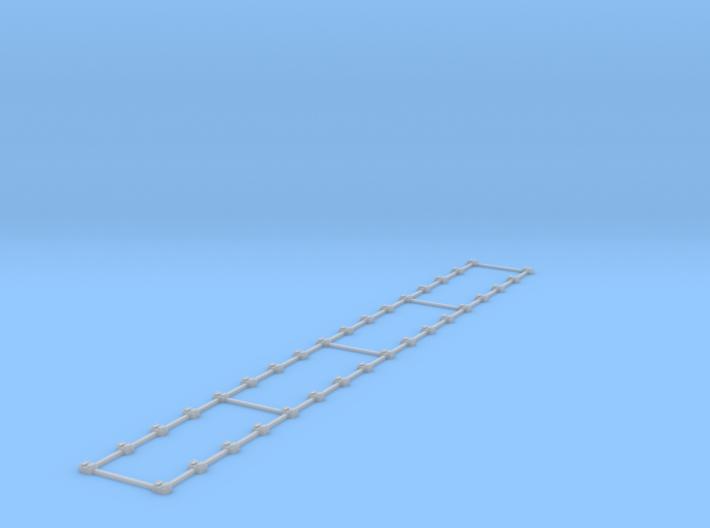 HO Rail Chairs - 6inch Strip 3d printed