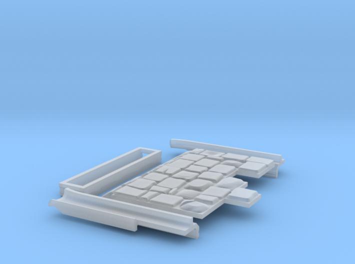 0552 Komplettset Endstück mit Pflaster und Rillen 3d printed