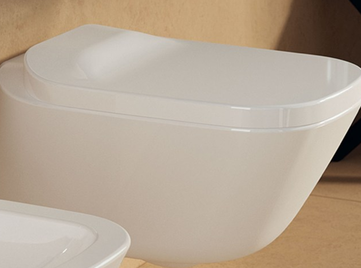 1:12 Toilet with lid, wall-hung 3d printed