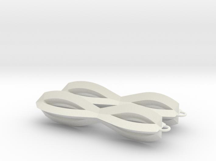 Sharp Earrings 3d printed
