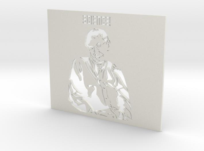 Professor Stephen Hawking SCIENCE! - Stencil 3d printed