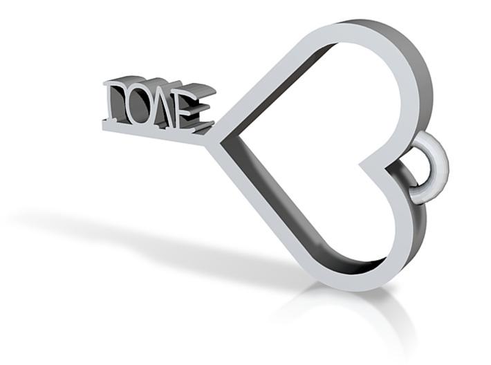 love key Pendent 3d printed