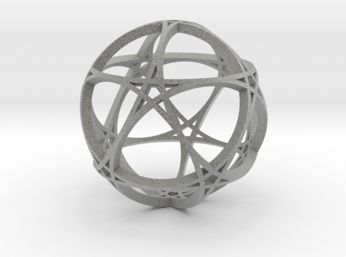 Pentagram Dodecahedron 1 (narrow, medium) 3d printed
