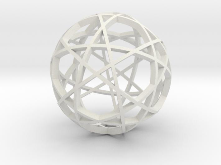 Pentagram Dodecahedron 3 (narrow) 3d printed