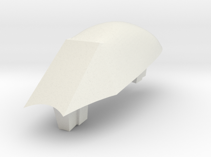 Aircraft- DH 100 Vampire Canopy Only (1/00th) 3d printed