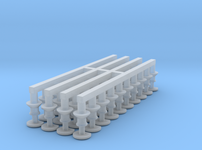 N Gauge Gresley Buffer (Clipped) Pack of 40 with 3d printed