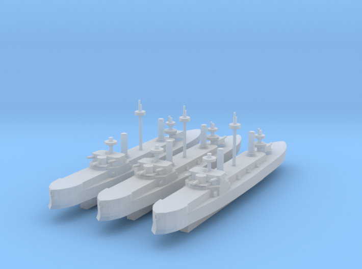 Hydra Class Ironclad 1:3000 x3 3d printed