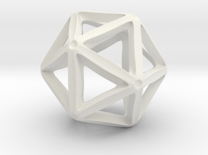 Icosahedral Pendant 28mm 3d printed