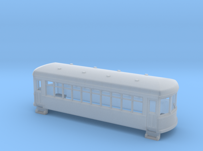 N gauge short trolley car 3d printed