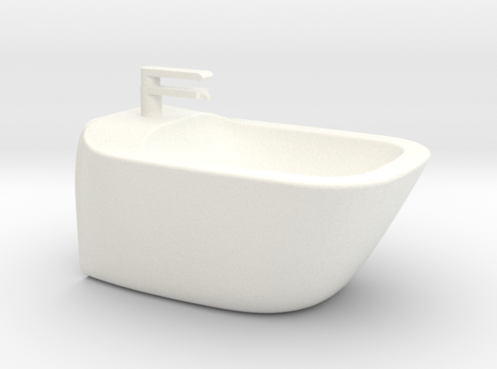 1:12 Bidet with tap, wall-mounted 3d printed