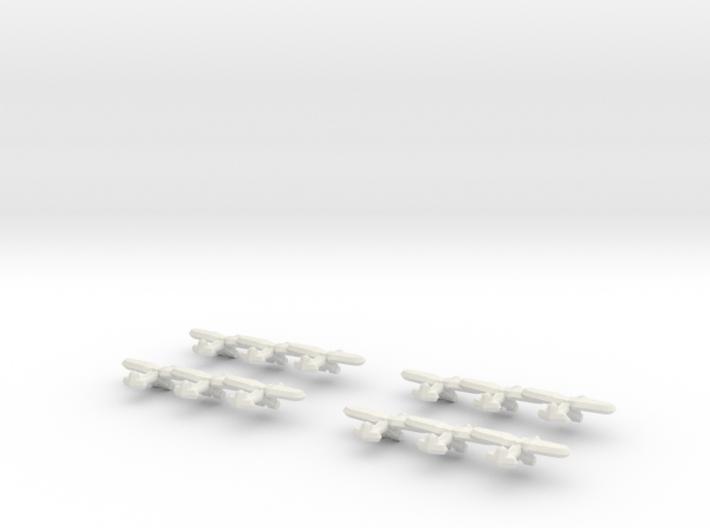 PZL P.11 (Triplet) 1/900 x4 3d printed