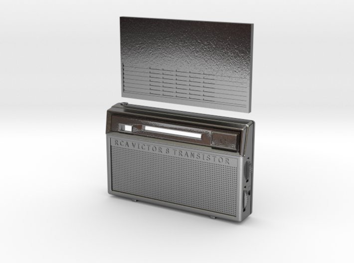1/6 scale 1960's style RCA 8 Transistor Radio 3d printed