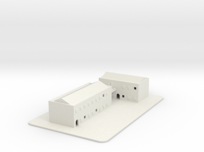 1/700 Town Buildings And Road 3d printed