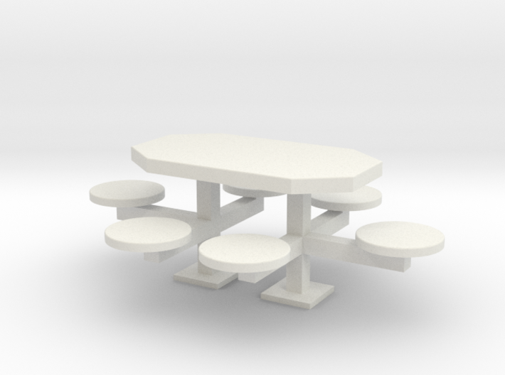 scale 1:24 Picnic Table 3d printed