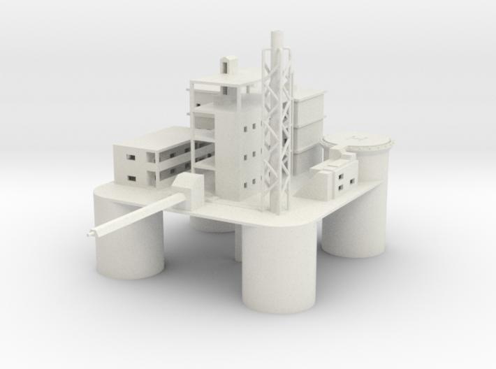 1/700 Oil Platform 3d printed