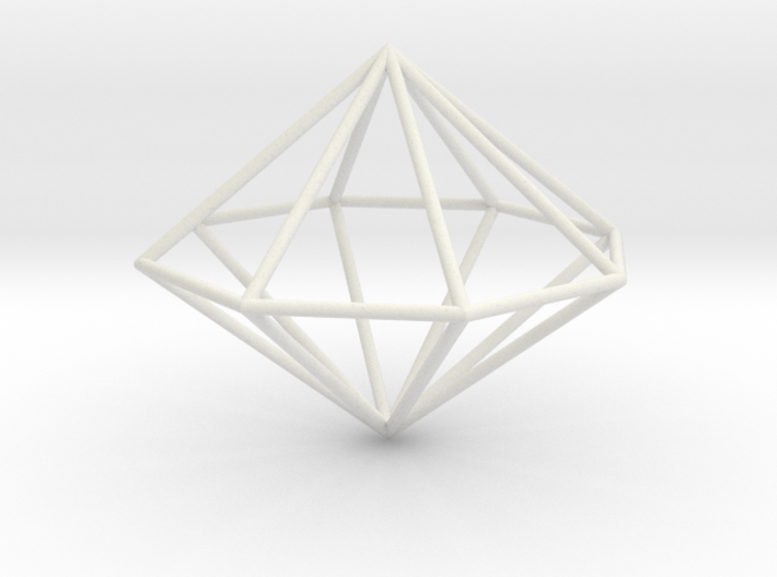 octagonal dipyramid 70mm 3d printed