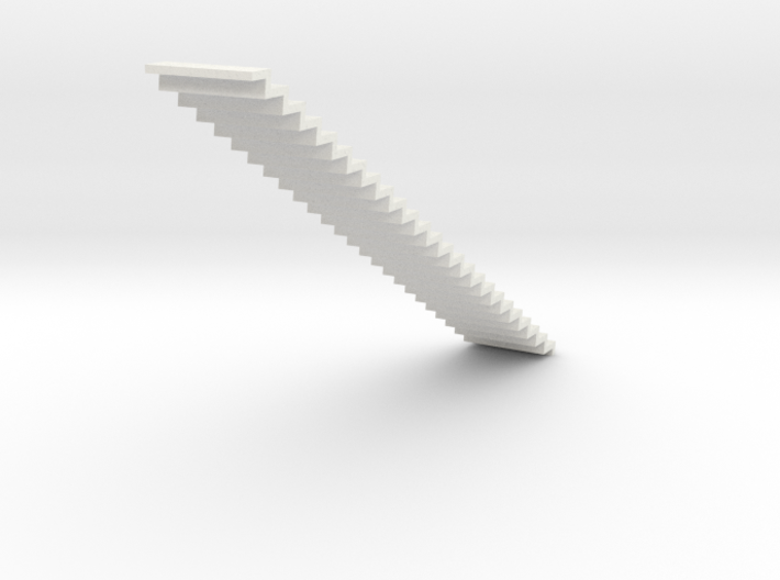 1200 Wide Stair 4mm Scale 3d printed