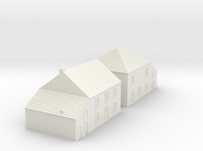 1/350 Village Houses 5 3d printed