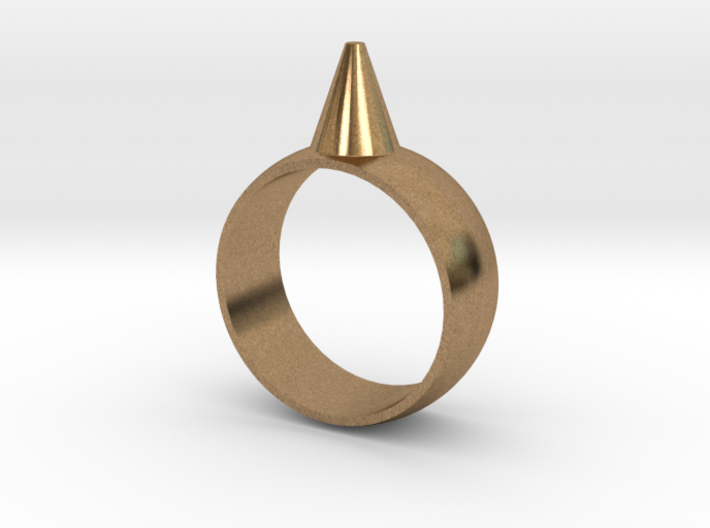 223-Designs Bullet Button Ring Size 7 3d printed