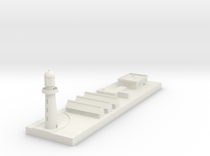 1/700 Concrete Dock and Buildings 3d printed