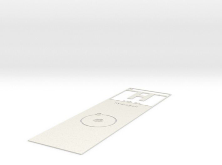 Elemental Bookmark 3d printed