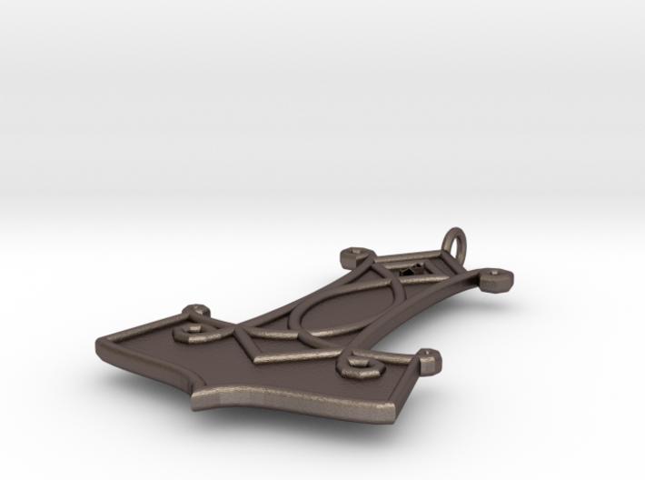 Thor Hammer Pendant 3d printed