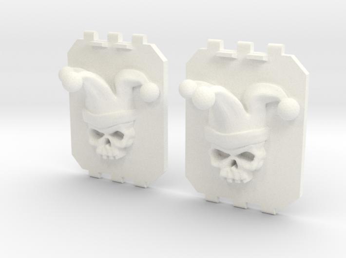 2 Large Tank Doors 3D Jester Skull 3d printed